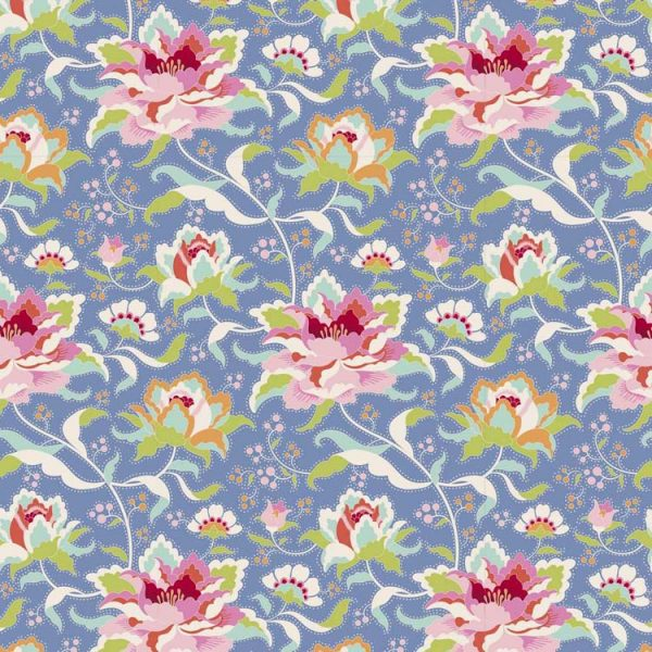Tilda Circus – Circus Rose Blue 100% cotton quilting fabric | Holm Sown