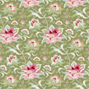Tilda Circus – Circus Rose Green 100% cotton quilting fabric | Holm Sown