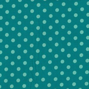 Fine Corduroy Needlecord Spots Teal and Mint Green - Holm Sown