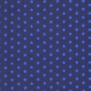 Fine Corduroy Needlecord Stars Blue and Royal Blue - Holm Sown
