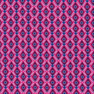 Fine Corduroy Needlecord Pink and Blue Diamonds - Holm Sown