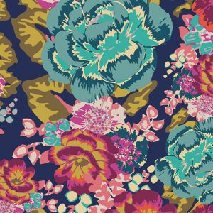 Art Gallery Fabric Knit Acqua Di Rose Boho Fusion - Holm Sown