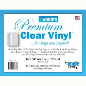 "By Annie's Premium Clear Vinyl 162 x 54"" - Holm Sown"