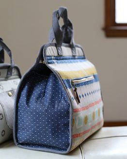 Noodlehead Makers Tote Sewing Pattern - side detail - Holm Sown