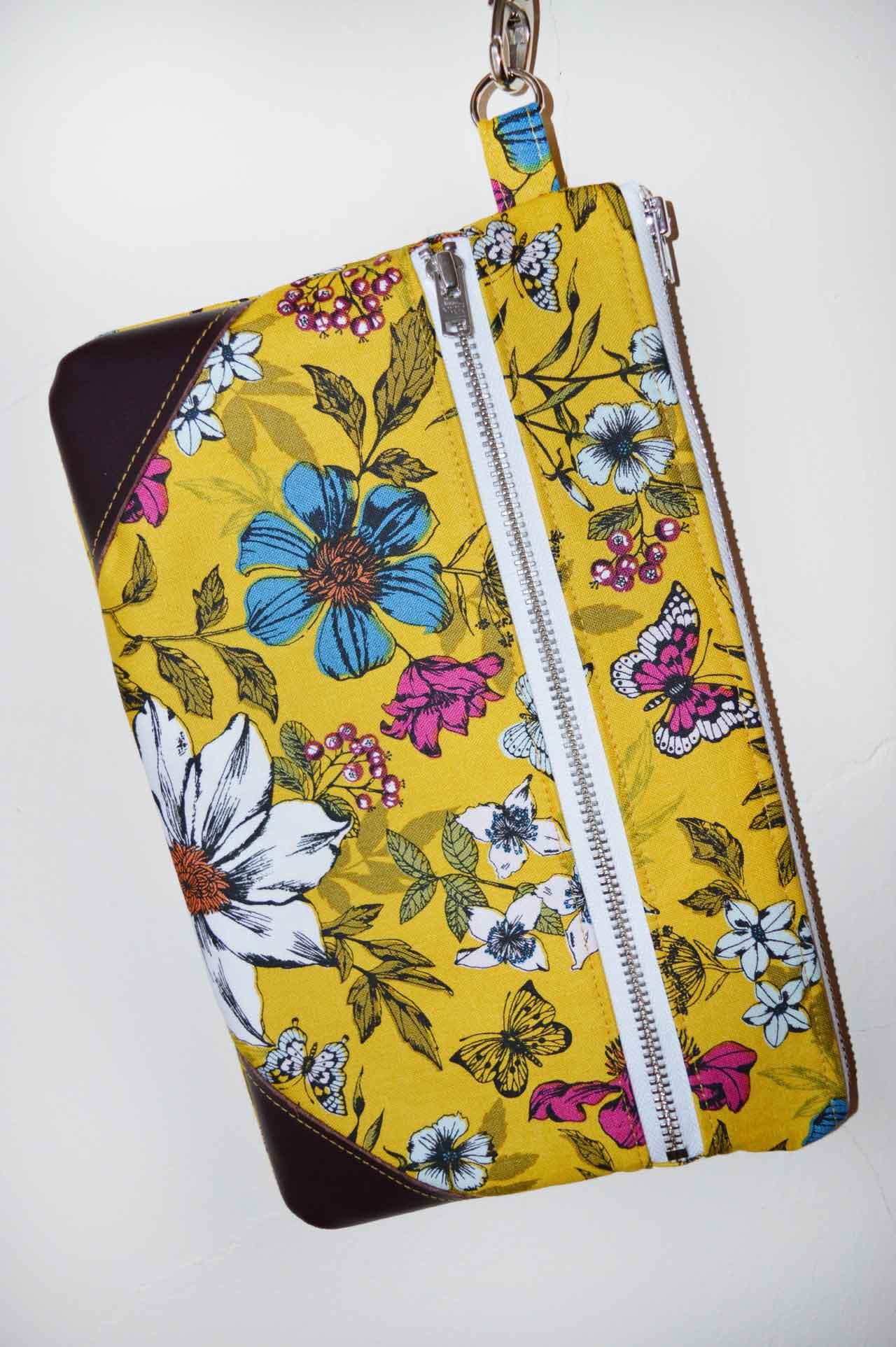 Botanica Floral Zip Purse - LBG Studio Double Zip Pouch - Holm Sown