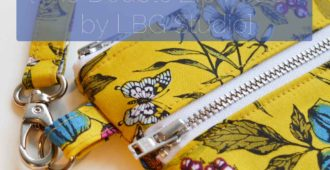 Botanica Floral Zip Purse - LBG Studio Double Zip Pouch - Holm Sown
