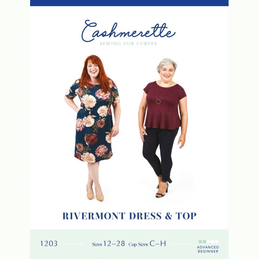 Cashmerette Sewing Patterns - Rivermont Dress & Top - Holm Sown