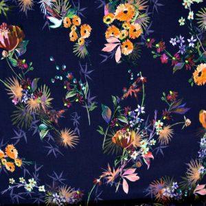 Helena Viscose Dressmaking Fabric - floral viscose fabric - Holm Sown