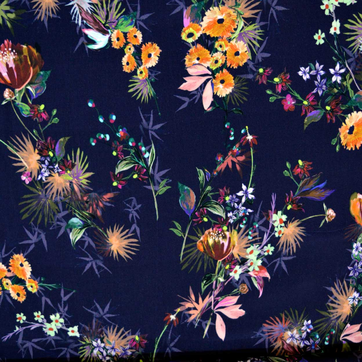 Helena Viscose Dressmaking Fabric - floral viscose fabric - Holm Sown