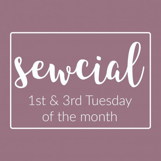 Sewcial Sew - social sewing event - Holm Sown