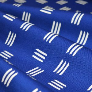 Holm Sown Online Fabric Shop - Canvas Cloud9 Lines & Shapes Dashes Indigo Blue