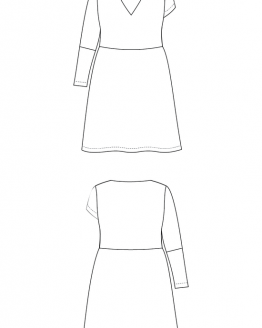 Holm Sown Online Fabric Shop - Cashmerette Patterns Turner Dress Sewing Pattern - line drawing