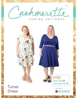 Holm Sown Online Fabric Shop - Cashmerette Patterns Turner Dress Sewing Pattern - pattern envelope front