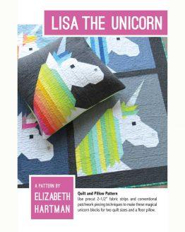 Holm Sown Online Fabric Shop - Elizabeth Hartman Lisa The Unicorn Quilt and Pillow Pattern - pattern envelope