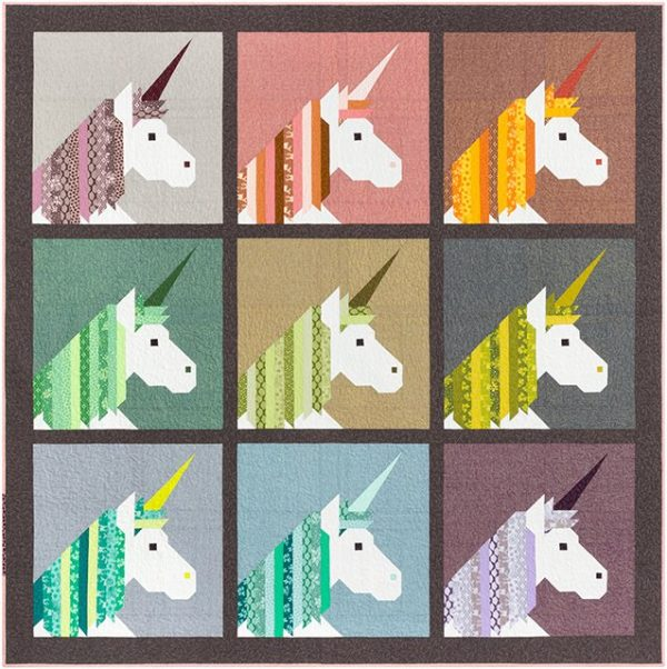 Holm Sown Online Fabric Shop - Elizabeth Hartman Lisa The Unicorn Quilt and Pillow Pattern - large quilt sample