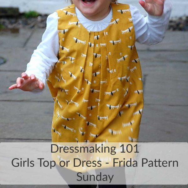 Holm Sown Online Fabric Shop and Sewing Workshops - Dressmaking 101 Learn to Sew Girls top or dress - Two Stitches Frida Sewing Pattern