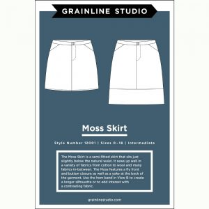Holm Sown Online Fabric Shop - Grainline Studio Moss Skirt Sewing Pattern
