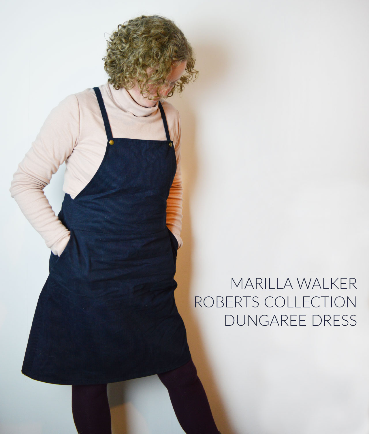 Holm Sown Online Fabric Shop - Marilla Walker Roberts Collection Dungaree Dress Pattern Review