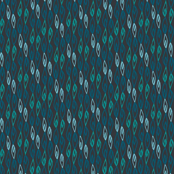 Holm Sown Online Fabric Shop - Cotton Fabric - Sundance Flame Stripe Blue by Beth Studley for Makower UK