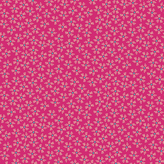 Holm Sown Online Fabric Shop - Cotton Fabric - Sundance Dashes Pink by Beth Studley for Makower UK