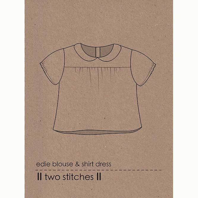 Holm Sown Online Fabric Shop - Two Stitches Edie Blouse & Shirt Dress Sewing Pattern - envelope