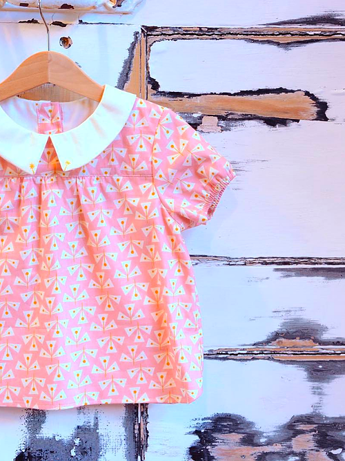 Holm Sown Online Fabric Shop - Two Stitches Edie Blouse & Shirt Dress Sewing Pattern - blouse
