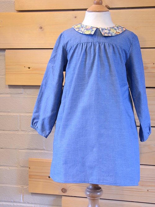 Holm Sown Online Fabric Shop - Two Stitches Edie Blouse & Shirt Dress Sewing Pattern - dress