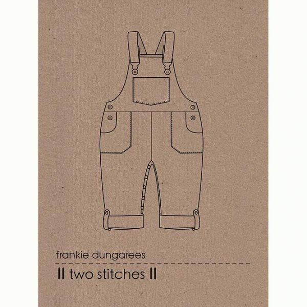 Holm Sown Online Fabric Shop - Two Stitches Frankie Dungarees Sewing Pattern - envelope