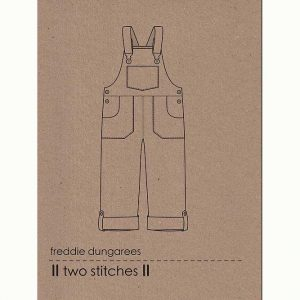 Holm Sown Online Fabric Shop - Two Stitches Freddie Dungarees Sewing Pattern - envelope