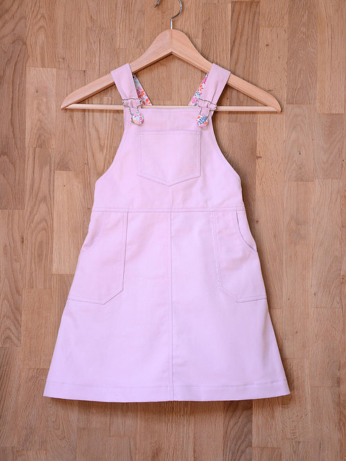 Holm Sown Online Fabric Shop - Two Stitches Freddie Dungarees Sewing Pattern - pinafore dress front