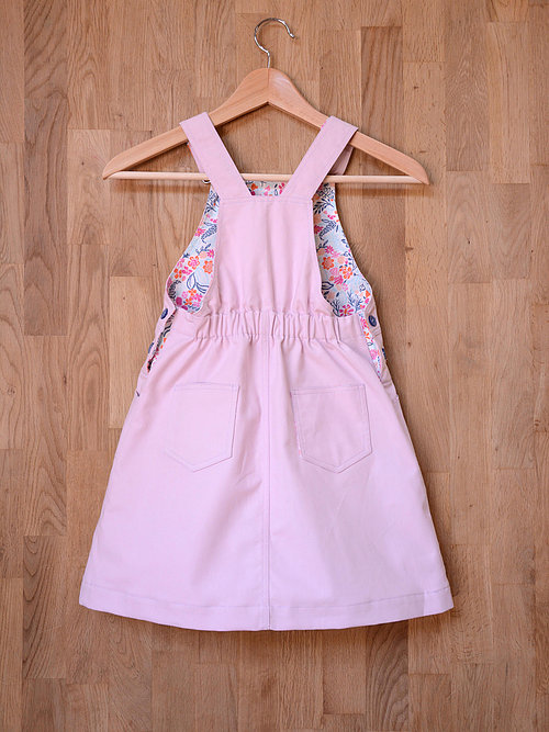 Holm Sown Online Fabric Shop - Two Stitches Freddie Dungarees Sewing Pattern - pinafore dress back