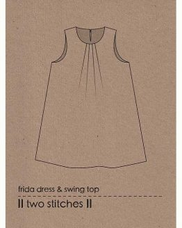 Holm Sown Online Fabric Shop - Two Stitches Frida Dress & Swing Top Sewing Pattern - envelope
