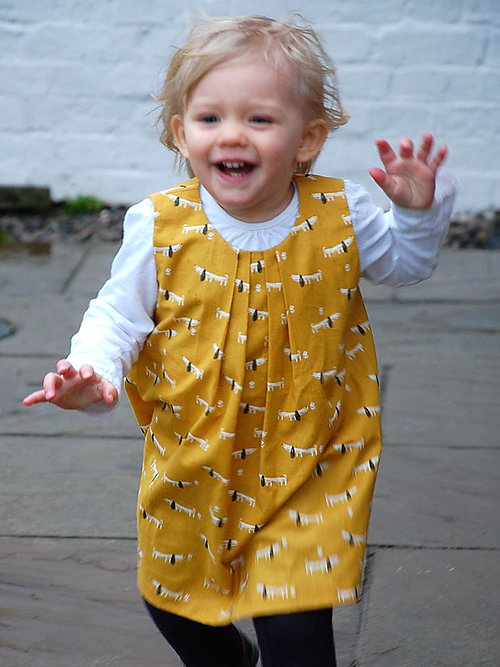 Holm Sown Online Fabric Shop - Two Stitches Frida Dress & Swing Top Sewing Pattern - dress sample