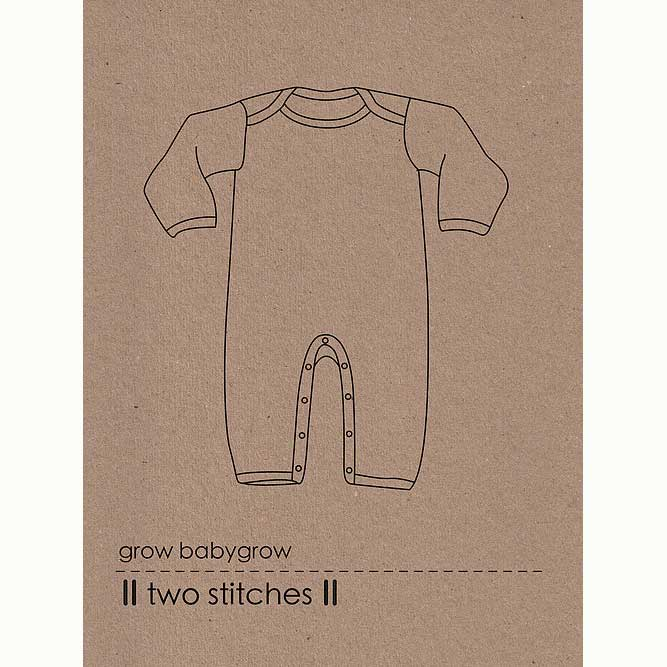 Holm Sown Online Fabric Shop - Two Stitches Grow Babygrow Sewing Pattern - envelope