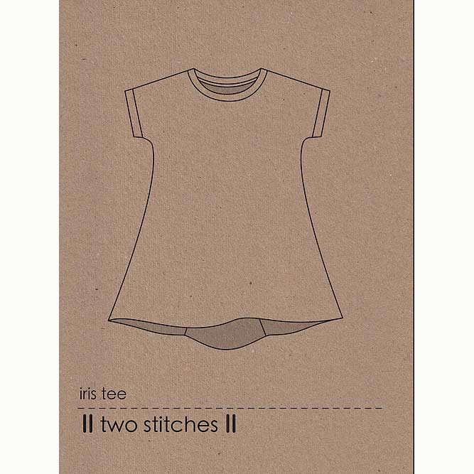 Holm Sown Online Fabric Shop - Two Stitches Iris Tee Sewing Pattern - envelope