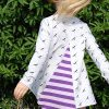 Holm Sown Online Fabric Shop - Two Stitches Iris Tee Sewing Pattern - tee back