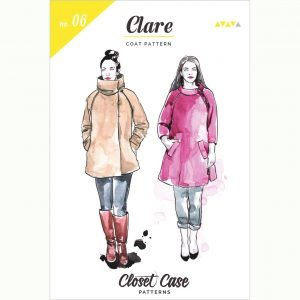 Closet Case Clare Coat // pattern envelope front // Holm Sown