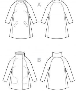 Closet Case Clare Coat // pattern line drawing // Holm Sown