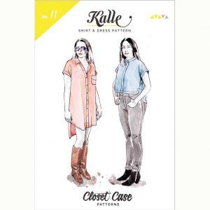 Closet Case Kalle Shirt & Shirtdress // pattern envelope front // Holm Sown