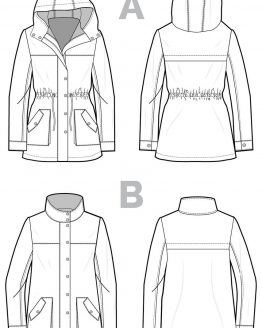 Closet Case Kelly Anorak // pattern line drawing // Holm Sown
