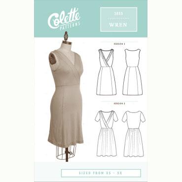 Colette Wren Dress // Colette sewing patterns // pattern envelope front // Holm Sown