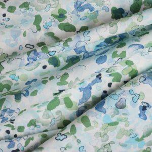 Holm Sown Online Fabric Shop - Azure Splash Pima Cotton Lawn dressmaking fabric