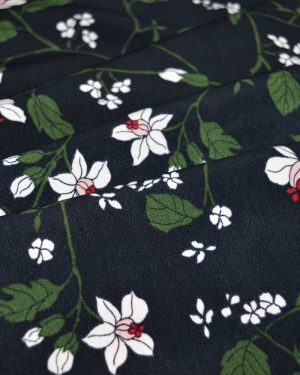 Holm Sown Online Fabric Shop - Cora Floral Polyester Crepe dressmaking fabric