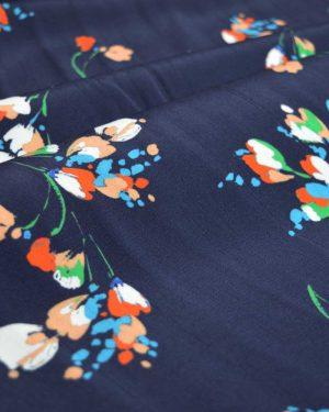 Holm Sown Online Fabric Shop - Spring Sprigs Floral Viscose dressmaking fabric