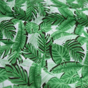 Holm Sown Online Fabric Shop - Cotton Fabric Tropicana Banana Leaf