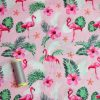 Holm Sown Online Fabric Shop - Cotton Fabric Tropicana Flamingos