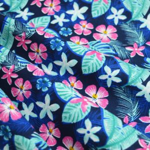 Holm Sown Online Fabric Shop - Cotton Fabric Tropicana Hibiscus Flowers