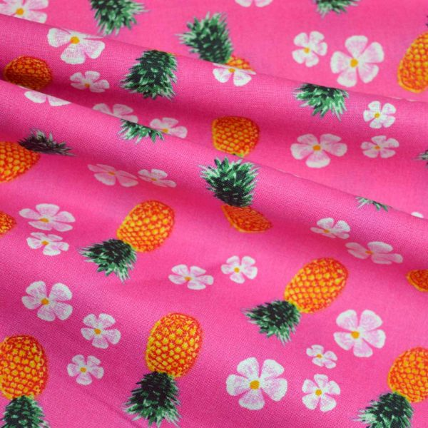 Holm Sown Online Fabric Shop - Cotton Fabric Tropicana Pineapples