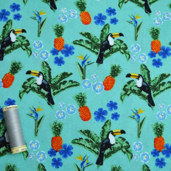 Holm Sown Online Fabric Shop - Cotton Fabric Tropicana Toucan