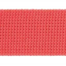 Holm Sown Online Fabric & Haberdashery Shop - Cotton Acrylic Webbing for bag handles - Coral | bag making accessories